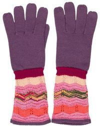 Missoni - Patterned Knit Gloves - Lyst