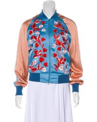 Jonathan Saunders - Embroidered Satin Bomber W/ Tags - Lyst