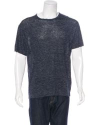 T By Alexander Wang - Striped Linen T-shirt - Lyst