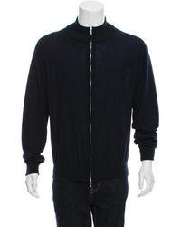 Loro Piana - Cashmere Zip-front Sweater Navy - Lyst