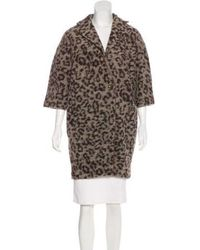 Thakoon Addition - Printed Wool Coat Black - Lyst