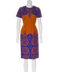 Jonathan Saunders - Printed Midi Dress W/ Tags Orange - Lyst