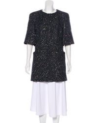 Chanel - Paris-dubai Sequined Coat Navy - Lyst