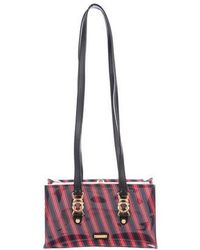 Moschino - Striped Frame Bag Navy - Lyst