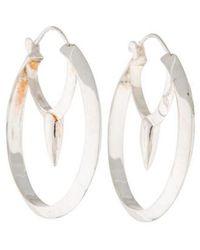 Pamela Love - Large Arc Hoop Earrings Silver - Lyst