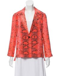 Elizabeth and James - Printed Silk Blazer Coral - Lyst