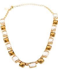 Kate Spade - Formal Facets Collar Necklace Yellow - Lyst