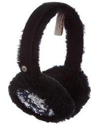 UGG - Shearling-trimmed Embellished Earmuffs - Lyst