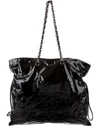 Chanel - Patent Bon Tote Black - Lyst
