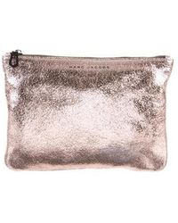 Marc Jacobs - Metallic Leather Zip Pouch - Lyst