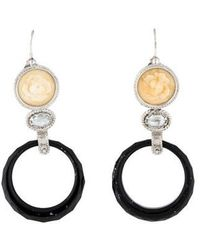 Tagliamonte - Onyx, Goshenite & Resin Drop Earrings Silver - Lyst
