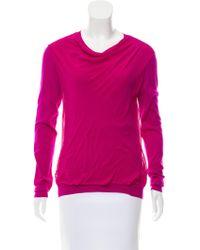 Nina Ricci - Wool Silk-paneled Sweater Violet - Lyst