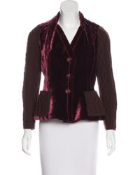 Dior - Velvet & Cable Knit Blazer Wool - Lyst
