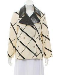 Bouchra Jarrar - Printed Double-breasted Jacket - Lyst