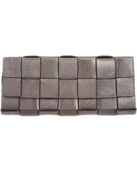Michael Kors - Basketweave Leather Clutch - Lyst