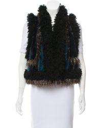 Anna Sui - Paneled Faux Fur Vest - Lyst