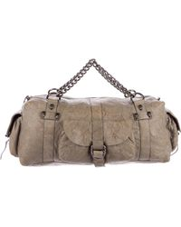 Thomas Wylde - Textured Leather Duffle Grey - Lyst