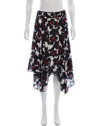 A.L.C. - Silk Floral Print Skirt - Lyst