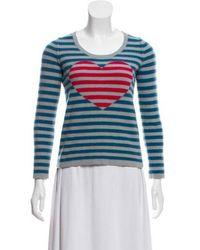 Sonia by Sonia Rykiel - Sonia By Rykiel Cashmere Intarsia Knit Sweater Grey - Lyst