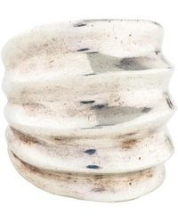 Pamela Love - Sculpted Wide Ring Silver - Lyst