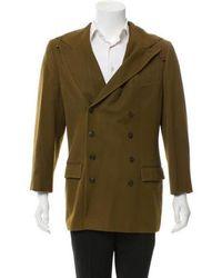 Jean Paul Gaultier - Hooded Wool Blazer Olive - Lyst