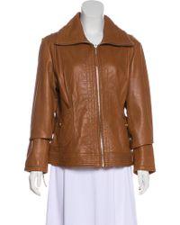 MICHAEL Michael Kors - Michael Kors Leather Zip-up Jacket - Lyst