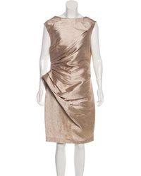 Ports 1961 - Silk & Linen-blend Dress - Lyst