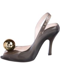 Vivienne Westwood Anglomania - Pointed-toe Rubber Pumps Grey - Lyst