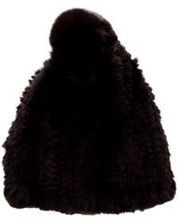 Glamourpuss - Knitted Fur Beanie W/ Tags - Lyst