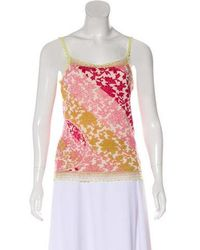 Christian Lacroix - Sleeveless Cashmere Top Magenta - Lyst