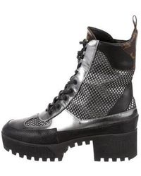 81eff8438d5 Lyst - Louis Vuitton Laureate Desert Ankle Boots in Brown