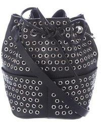 Tamara Mellon - Elixir Grommet-embellished Bucket Bag Black - Lyst
