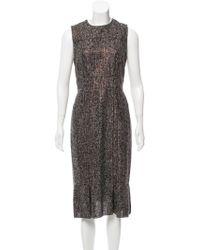 Magaschoni - Bouclé Sleeveless Dress - Lyst