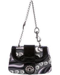 Emilio Pucci - Leather-trimmed Paisley Shoulder Bag Grey - Lyst