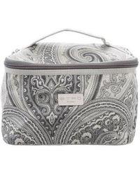 Etro - Printed Cosmetic Bag Grey - Lyst