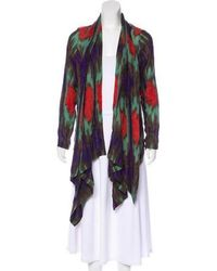 SUNO - Draped Wool Cardigan - Lyst