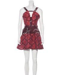 Michael van der Ham - Jacquard Mini Dress Magenta - Lyst