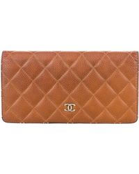 993bafdc06b3 Lyst - Chanel Caviar Timeless French Purse Wallet in Metallic