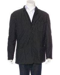 Jean Paul Gaultier - Reversible Striped Jacket Black - Lyst