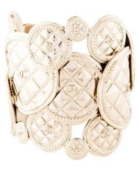 Chanel - Cc Quilted Cuff Gold - Lyst