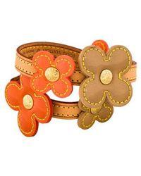 Louis Vuitton - Vernis Fleurs Double Wrap Bracelet Gold - Lyst