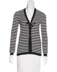 Jil Sander Navy - Striped Knit Cardigan - Lyst