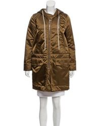 Rick Owens - Hooded Knee-length Coat Gold - Lyst