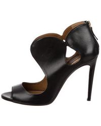 Aquazzura - Cutout Leather Sandals - Lyst