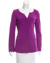 Alberta Ferretti - Knit Long Sleeve Jacket - Lyst