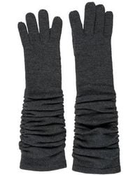 Alice + Olivia - Wool Ruched Gloves Grey - Lyst