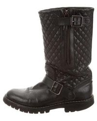 Chanel - Quilted Mid-calf Boots - Lyst