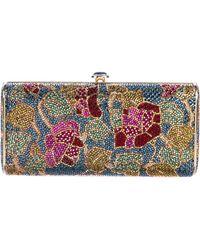 Judith Leiber - Rosas Embellished Cylinder Clutch Multicolor - Lyst