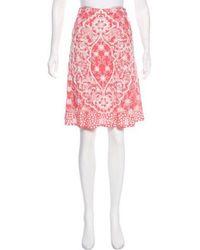Naeem Khan - Embroidered Silk Skirt - Lyst