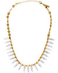 Rachel Zoe - Cleo Spike Necklace Gold - Lyst